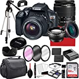 Canon EOS Rebel T6 DSLR Camera with 18-55mm f/3.5-5.6 is II Zoom Lens, 64GB Memory,Case, Tripod and More (28pc Bundle)