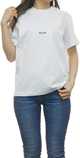 MSGM エムエスジーエム 2641 MDM100 半袖 Tシャツ カットソー クルーネック 丸首 ちびロゴ 99/ブラック レディース [並行輸入品]