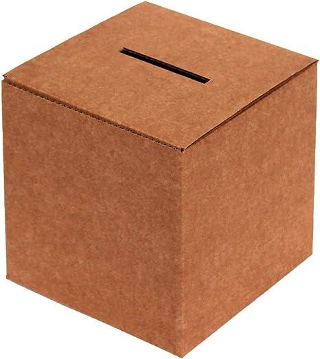 Kartox | Urna de Cartón para Votaciones o Eventos | Caja de Cartón para Sugerencias o Buzón | 35x35x35: Amazon.es: Oficina y papelería
