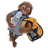 Reborn Dolls - Muñeca realista de 20 pulgadas, diseño de mono, sopa, silicona, vinilo realista, hecho a mano, juguetes de bebé recién nacido, regalo de Navidad
