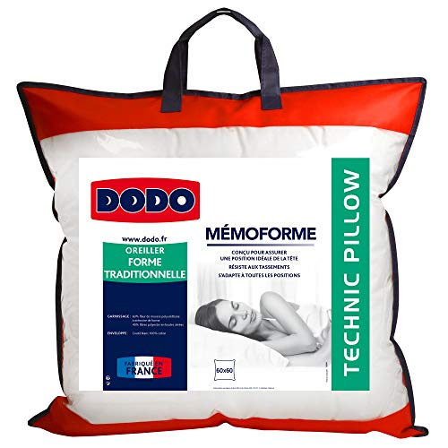 Do Wrap Performance Headwear Dodo OFM60 - Cuscino ergonomico, Bianco, 60 x 60 cm