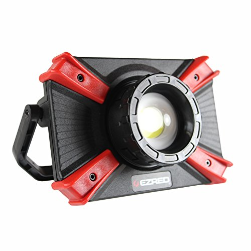 EZ RED XLF1000-1,000 Lumen Portable Micro-USB Rechargeable Focusing Work Light with Magnetic Accessory