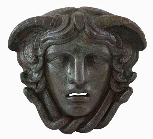 Estia Creations Medusa Maske mit Bronze Farbe Effekt–Antike Griechische Theater–Gorgone Medousa