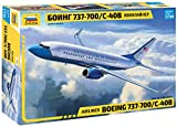 Zvezda 7027 - Airliner Boeing 737-700/C-40B - Plastic Model Kit Scale 1/144 109 Parts Lenght 9'