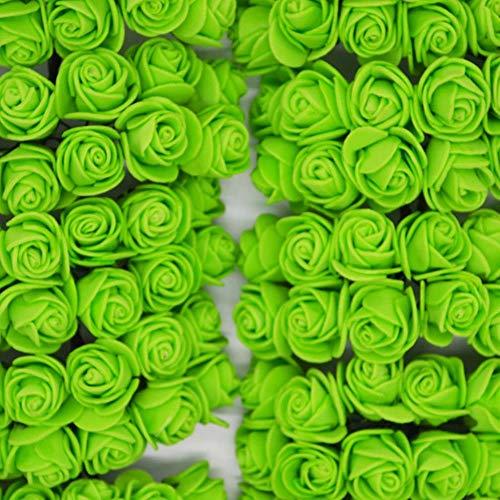 LIMMC 36/72 / 144pcs 2cm Decoratieve teddybeer Rose PE-schuim kunstbloemenboeket voor hoofdbruiloft decoratie DIY krans vervalste bloemen