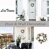 LinTimes Türkranz Wandkranz, handgefertigte Kunstblumendeko für Zuhause, Parties, Türen, Hochzeiten - 8