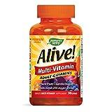 Nature's Way Alive! Adult Premium Gummy Multivitamin, Fruit and Veggie Blend (150mg per Serving), Full B...