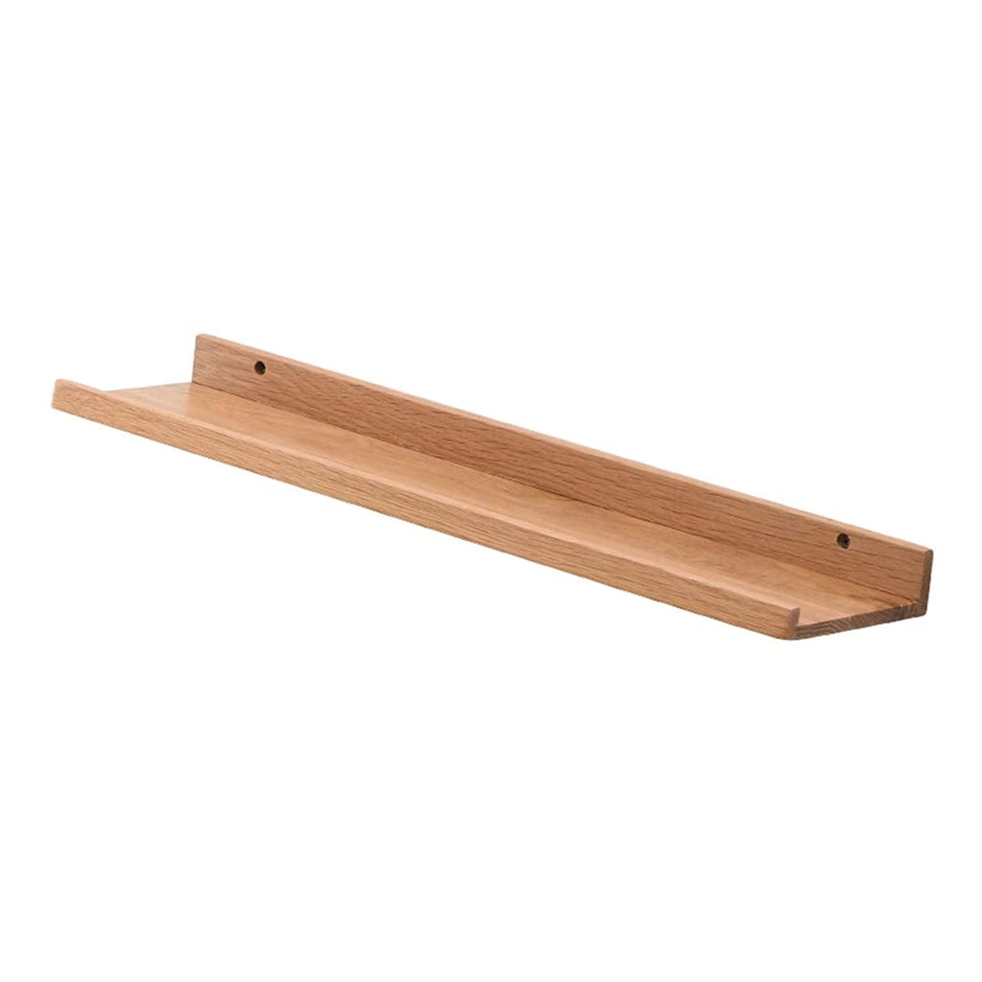 特に故障アリGY 無垢材 フローティングウォールシェルフ 壁シェルフラック デコレーション リビングルームのベッドルーム コレクターグッズ、 トロフィー棚ディスプレイスタンド 木の色 (色 : 木の色, サイズ さいず : 60 cm 60 cm)