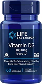 Life Extension Vitamin D3, 5000 IU, 60 Softgels, 60ct