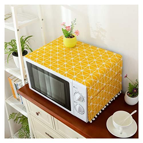 JINAN Housse de protection pour four à micro-ondes avec poche en coton épais et lin (couleur : 1, taille : 30 x 90 cm)