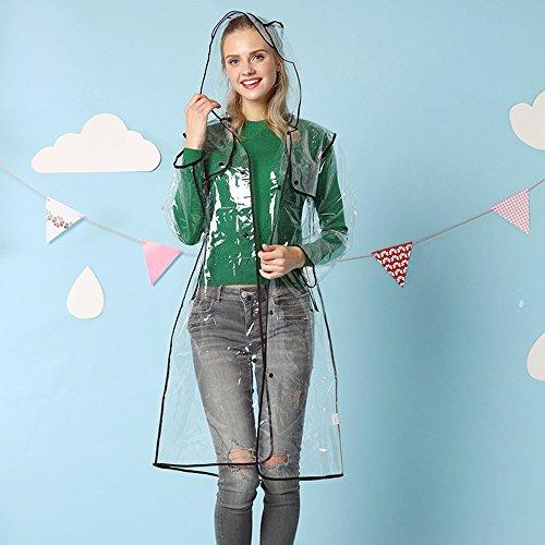 Zhihui poncho ZZHF Yuyi Impermeabile Moda Tinta Unita Impermeabile Trasparente Maschile Lady Long Poncho Outdoor Outdoor Impermeabile Riding 3 Color Optional Size Opzionale