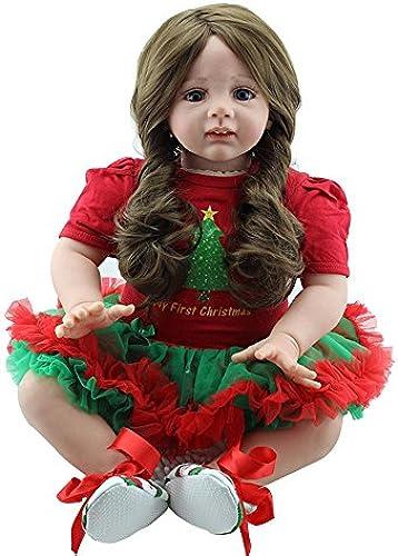 LINAG Babypuppen Reborn Baby Vinyl Silikon Weiß Lebensechte Wirkendes Neugeborene Realistische Wiedergeboren Spielkameraden Simulation mädchen Junge Spielhausspielzeug 60cm Doll-73264