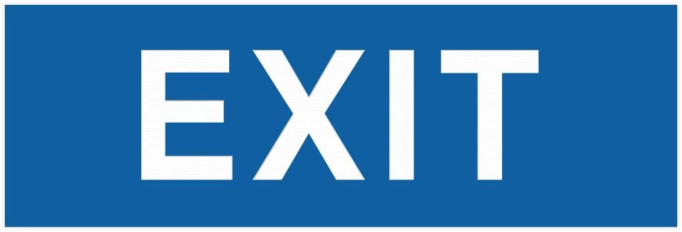 Basic EXIT Door OFFicial store Wall Blue Small - Sign Spasm price