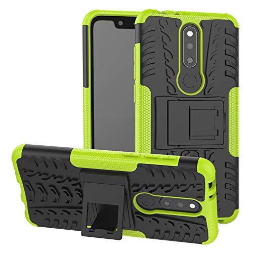 LFDZ Nokia 5.1 Plus Custodia, Resistente alle Cadute Armatura Robusta Custodia Shockproof Protective Case Cover per Nokia 5.1 Plus/Nokia X5 Smartphone{Not Fit Nokia 6.1 Plus},Verde