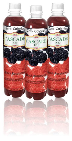 Cascade Ice Sparkling Water, Black Raspberry, 17.2 Ounce (Pack of 12)