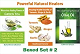 Amazing Healing Powers of Green Tea, Olive Oil, Turmeric, Ginger and Garlic: Powerful Natural Healers - Boxed Set # 2 - Uses of Green Tea, Olive Oil and ... - 3 Books Boxed Sets) (English Edition)