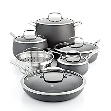 11 Piece Quality Home Cookware Set By Belgique | Non-Stick Hard Anodized Aluminum | High End Non-Stick Cookware For Great Home Cooking