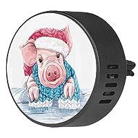2pcsアロマセラピーディフューザー車エッセンシャルオイルディフューザーベントクリップ豚ベクトル