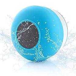 Avec la connexion Bluetooth sans fil version 3.0 et Stéréo, Microphone intégré, appel mains libres. Adopter la puce de décodage audio de haute qualité, qualité sonore parfaite. IPX4 imperméable à l'eau, apparence unique avec ventouse fond, une bonne ...