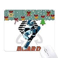 雪の冬のスポーツのイラストボード ゲーム用スライドゴムのマウスパッドクリスマス