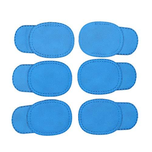 Heallily Parche de ojo de ambliopía 12pcs para gafas parche de ojo para niños tratar ojo vago y estrabismo para niños (azul)