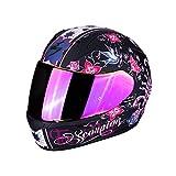 Scorpion Casco de moto EXO 390 CHICA Negro mat Pink, Negro/Rosa, S