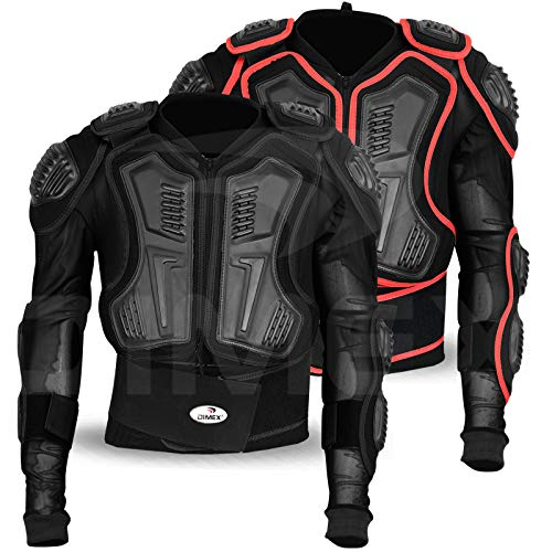 Motocross Motorfiets Body Armour Motorfiets Protector Guard Jas (BLACK ONLY) (XXL)