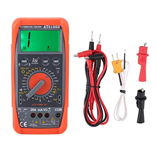 Tachometer Meter, AT2150B Handheld Automotive Tachometer Meter LCD Display Digital Multimeter tach Test AC/DC Current, Voltage, Resistance, Capacitance, Temperature, hFE