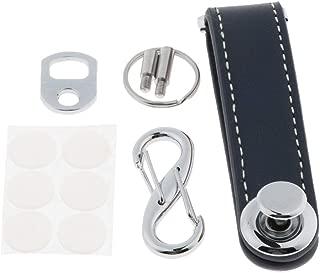 Prettyia Mens Genuine Leather Smart Key Holder Organizer Clip Compact Folder Keychain