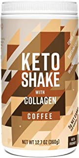 Sponsored Ad - 360 Nutrition Keto Protein Powder - Keto Shake Coffee Flavor 12.7 oz - Grass Fed Collagen Peptides, MCT Oil...