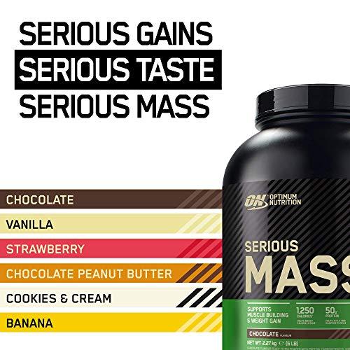 Optimum Nutrition Serious Mass Gainer Chocolate, 1er Pack (1 x 2727 g) - 7