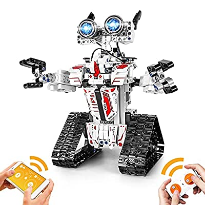YESHIN Birthday Gifts Robot Building Toys for Kids APP Remote Control STEM Projects Assembly Educational Science Kits Gifts for Boys Girls Ages 8+ (468 Pcs) by YESHIN
