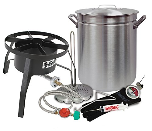 "Oversized Turkey Deep Fryer Kit 42 Quart Aluminum ""GRAND GOBBLER"" for 25+ LBS Turkeys by Bayou Classic"