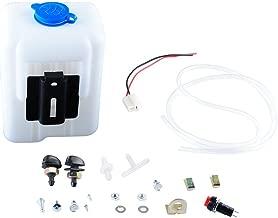 Wadoy Universal Windshield Washer Pump Reservoir Kit 99300 Fluid Reservoir Tank Bottle with Pump
