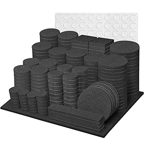 Filzgleiter Selbstklebend, Filzgleiter 300 Stück - Dicke 5mm Filz Schwarz, Filzgleiter für Stühle, Geeignet für Massivholzböden Stuhlgleiter, Filz Selbstklebend Möbelgleiter