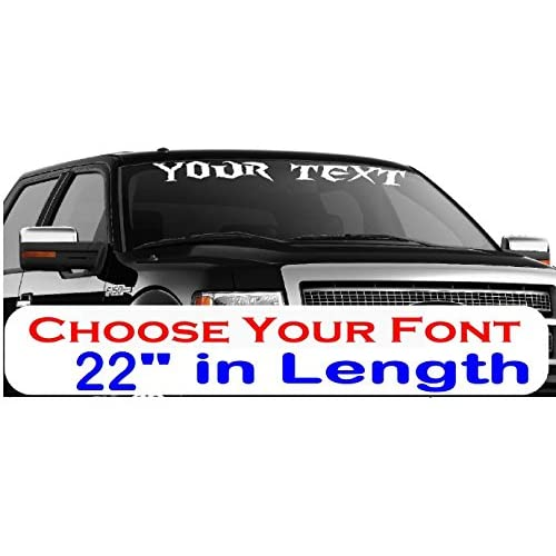 CustomDecal US 22-Inch Personalized Name Vinyl Decal Sticker | Fade-Resistant & Waterproof Decorative Text | Easy to Apply on Car, Truck, Boat, Trailer Window or Bumper | 9 Fonts & 10 Colors