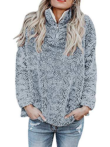 Sexy Dance Damska modna zapinana na zamek błyskawiczny rozmyta bluza polarowa sweter jednolity kolor zimowy płaszcz wierzchnie topy