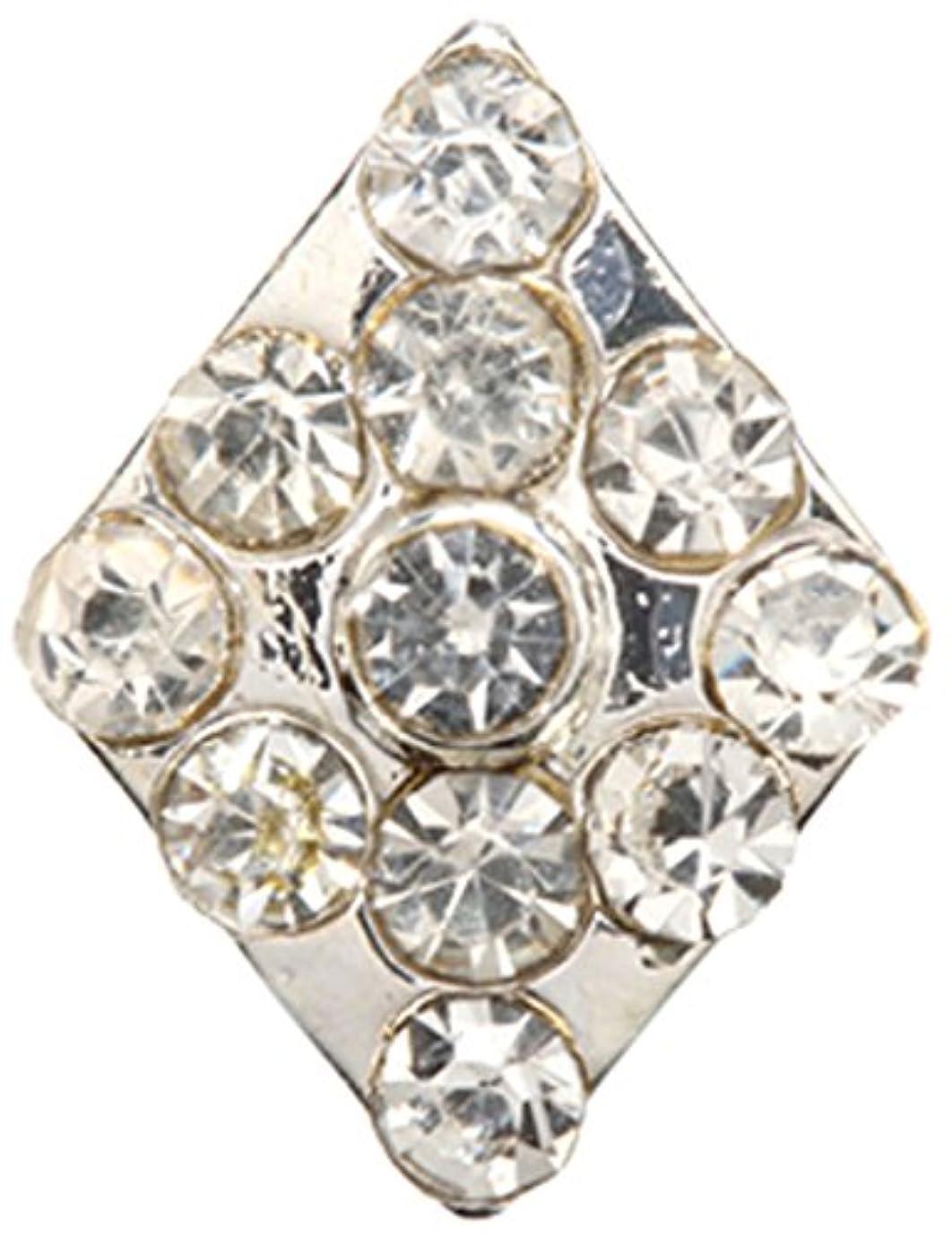 構成コンプライアンス黄ばむダイヤ クリスタル(各2個) シルバー