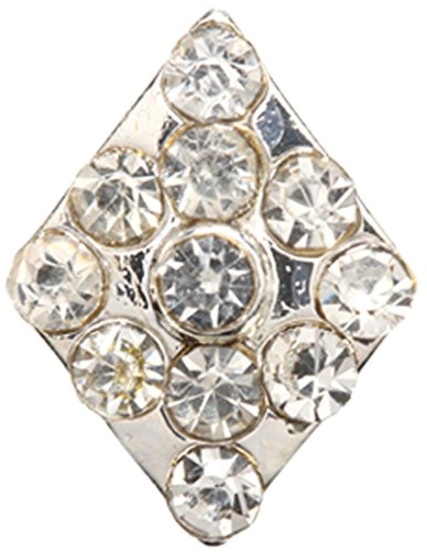 視線ラベルフェリーダイヤ クリスタル(各2個) シルバー
