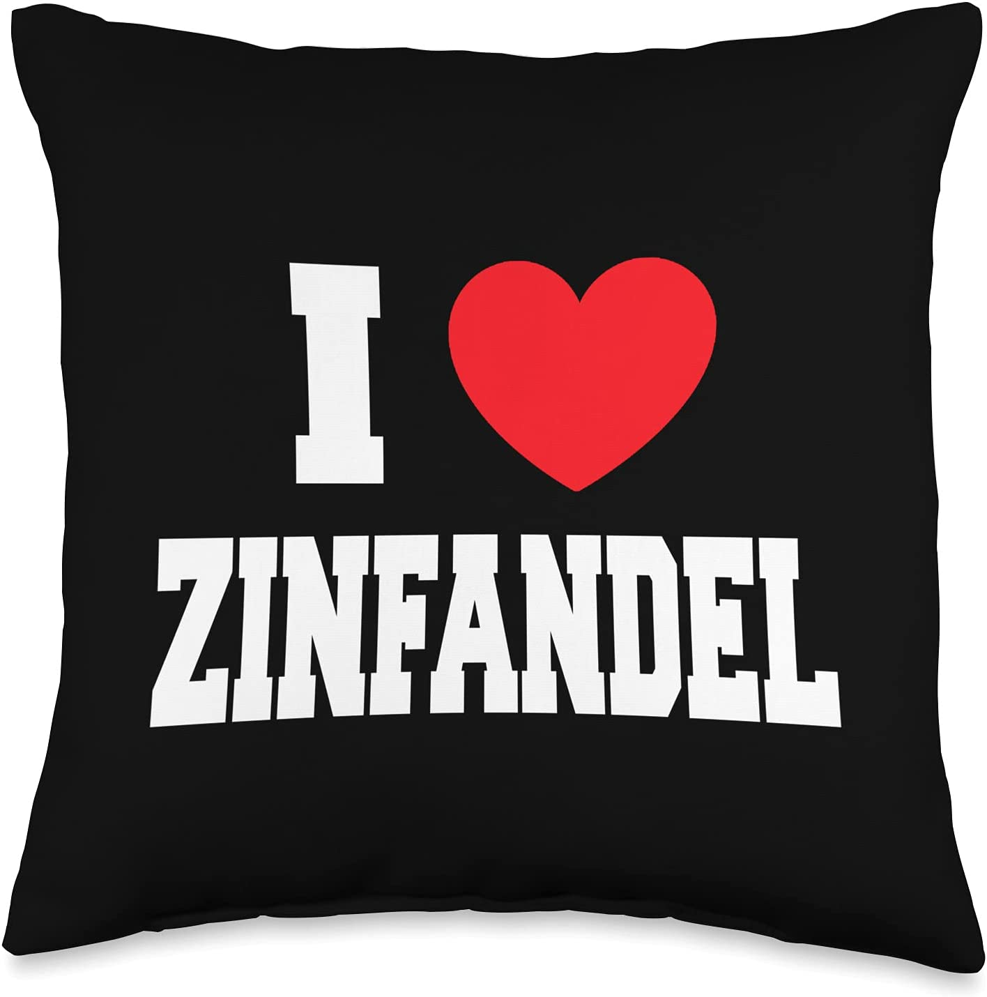 Very popular! My Heart I Love Zinfandel Throw Pillow Multicolor 16x16 Discount mail order