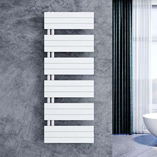 ELEGANT Design Badheizkörper Mittelanschluss Handtuchtrockner mit Anschluss links oder rechts Heizung weiß Hantuchwärmer 1590x600mm
