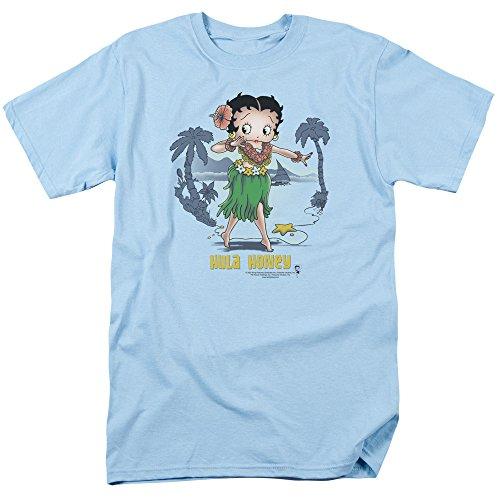 Trevco Betty boop-hula-honig-T-shirt für Herren X-Groß Blau