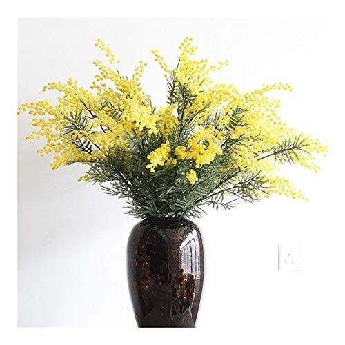 Roovtap 80CM Gelb Pflanze Cherry Blossom Mimosa Blumenstrauß Simulations-Blumen-Blumen Family Wedding Dekoration Dried Flower (Color : 1)