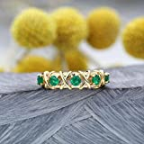 IWINO Mode Green Crystal Band Hollow Interwoven Frauen Green Stone Trauringe Mariage Geschenk...