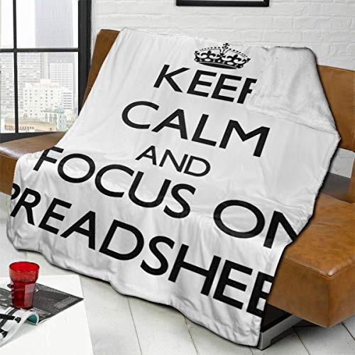 vilico Throw Blanket Fleece Baby Blankets for Boys Girls Kids,Soft Warm Cozy Blanket Fit Couch Bed Sofa,40x50 inches - Keep Calm And Focus On Spreadsheets