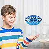 Flying Toys Drones for Kids Mini Drones Hand Controlled Flying Ball Drone Toys with 2 Speed and LED Light for Kids, Boys and Girls Toys (Blue)