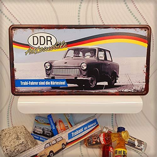 AV Andrea Verlag Ostalgie Metallschild Blechschild - Trabi Fahrer – DDR Geschenke Automobile, das Türschild Schild für Ost Nostalgiker und Fans für Ostprodukte