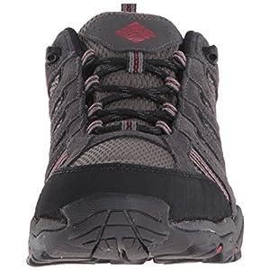Columbia Men's North Plains II Waterproof Hiking Shoe, City Grey, Rocket, 11 D US