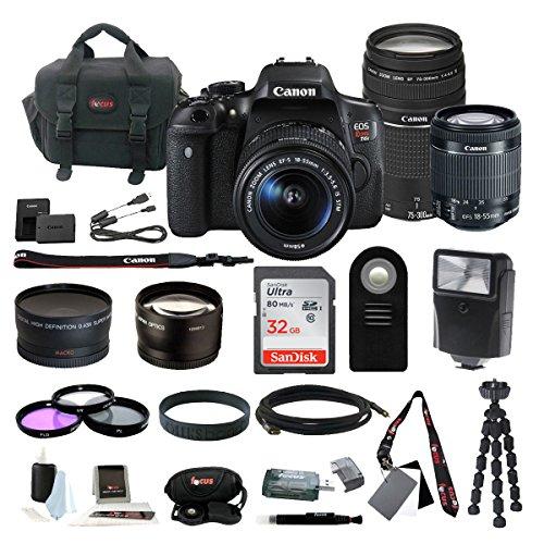 Canon EOS Rebel T6i Digital Camera: 24 Megapixel 1080p HD Video DSLR Bundle