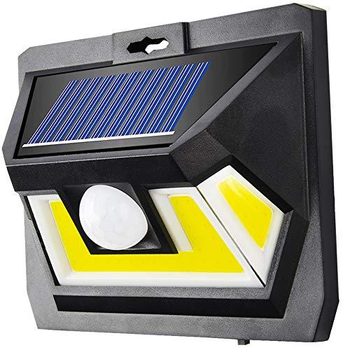 Lampen op zonne-energie met bewegingsmelder, hoge kwaliteit, sterk COB-led, 1000 lumen, buitenverlichting, 2200 mAh, op zonne-energie, voor tuin